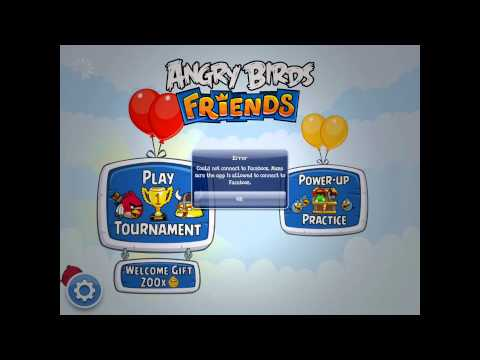 [iOS] Angry Birds Friends Connect Error Facebook [English]